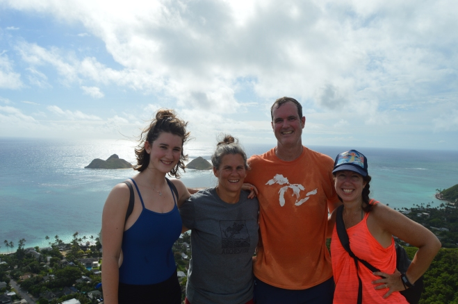 At the summit of the Pillbox trail